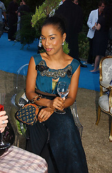 Actress SOPHIE OKONEDO at a party to celebrate FilmFour becoming the UK's first major free film channel held at Debenham House, Addison Road, London on 20th July 2006.<br />