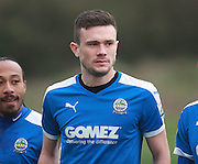 Dover midfielder Jack Parkinson during the FA Trophy match between Whitehawk FC and Dover Athletic at the Enclosed Ground, Whitehawk, United Kingdom on 12 December 2015. Photo by Bennett Dean.