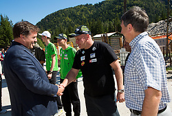 Drago Balent and Goran Janus at media day of Slovenian Ski jumping team during construction of two new ski jumping hills HS 135 and HS 105, on September 18, 2012 in Planica, Slovenia. (Photo By Vid Ponikvar / Sportida)