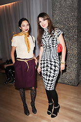 Left to right, stylist HANNAH BHUIYA and jeweller LARA BOHINC at The Rodial Beautiful Awards in aid of the charity Kids Company held in the Billiard Room at The Sanderson, 50 Berners Street, London on 3rd February 2010.