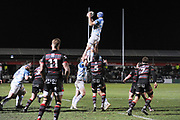 Scott Fardy takes lineout ball during the Guinness Pro 14 2017_18 match between Edinburgh Rugby and Leinster Rugby at Myreside Stadium, Edinburgh, Scotland on 9 February 2018. Picture by Kevin Murray.