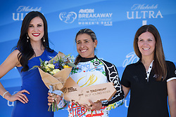 Arlenis Sierra wins the youth competition at Amgen Breakaway from Heart Disease Women's Race empowered with SRAM (Tour of California) - Stage 4. A 20 lap criterium in Sacramento, USA on 14th May 2017.