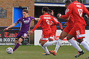 James Rowe and Noah Chesmain during the Vanarama National League match between Welling United and Cheltenham Town at Park View Road, Welling, United Kingdom on 5 March 2016. Photo by Antony Thompson.