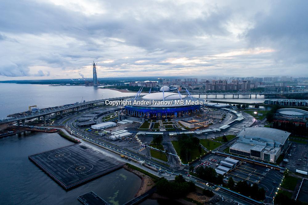 ST PETERSBURG, RUSSIA. Views of the «Saint Petersburg Stadium»<br /> <br /> The Krestovsky Stadium is also called Zenit Arena