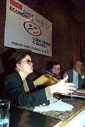 Dilma Rousseff e Maria da Conceição Tavares durante Painel Crise Economica – Como Mudar o Brasil, em Porto Alegre/ 1999. FOTO: Sérgio Néglia