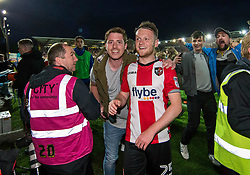 Jake Taylor of Exeter City is mobbed by fans at the final whistle - Mandatory by-line: Gary Day/JMP - 18/05/2017 - FOOTBALL - St James Park - Exeter, England - Exeter City v Carlisle United - Sky Bet League Two Play-off Semi-Final 2nd Leg