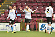 Alex Wynter of colchester United reacts to giving away a free kickduring the Sky Bet League 1 match between Scunthorpe United and Colchester United at Glanford Park, Scunthorpe, England on 23 January 2016. Photo by Ian Lyall.