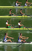 11/07/03/03 .2003 FISA Rowing World Cup - Lucerne.- Switzerland.Heat of the M2- GBR M2- Bow James livingstone and Kieran West Rowing Course, Lake Rottsee, Lucerne, SWITZERLAND. [Mandatory Credit: Peter Spurrier:intersport Images]