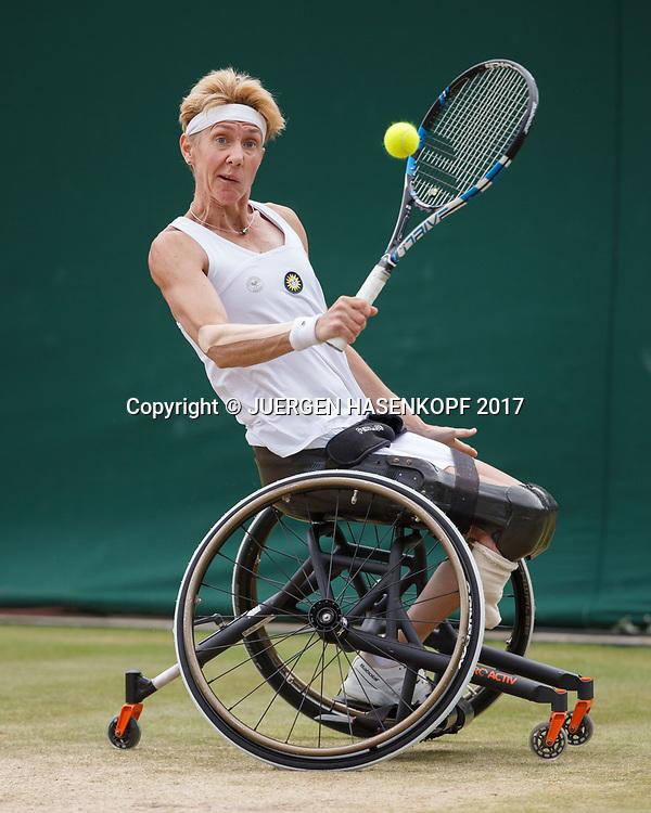 SABINE ELLERBROCK (GER), Rollstuhl Tennis<br /> <br /> Tennis - Wimbledon 2017 - Grand Slam ITF / ATP / WTA -  AELTC - London -  - Great Britain  - 14 July 2017.