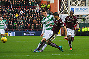 Hearts FC Defender Igor Rossi Branco clears the ball during the Ladbrokes Scottish Premiership match between Heart of Midlothian and Celtic at Tynecastle Stadium, Gorgie, Scotland on 27 December 2015. Photo by Craig McAllister.