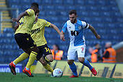 Blackburn Rovers Adam Armstrong on the ball  during the EFL Sky Bet Championship match between Blackburn Rovers and Millwall at Ewood Park, Blackburn, England on 14 September 2019.