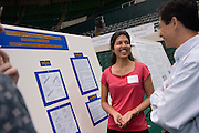 2006 Ohio University Student Research and Creative Activity Fair.Engage & Explore!...ATTENTION FACULTY AND STAFF:..Encourage your students to show off their research, scholarship or creative activity at the 5th Annual Ohio University Student Research and Creative Activity Fair on Thursday May 4th from 12 noon to 4 p.m. at the Convocation Center...Be creative! Posters, exhibits, performances, film screenings and other presentation formats welcome!  ..The 2005 event featured more than 270 students in 63 individual categories, with projects ranging from dancing puppets to a prototype for a flying car. More than 1,000 students, faculty, staff , community members and local middle and high school students attended the event to learn more about how Ohio University students are engaged in and explore their research and creative activity!..Who is eligible?.Undergraduate, graduate and medical students and postdoctoral fellows from all disciplines and University campuses...Can my student win prize money?.Yes.  Awards will be given for the best presentations in each category:  $400 (1st prize) and $100 (2nd prize).  Categories are limited to no more than 12 presentations and assigned by discipline.  For sessions with undergraduate and post-degree students, judges may elect to give two 1st prizes (one each for an undergraduate and a post-degree student).  In this case a 2nd place prize will not be awarded.  ..Free food and door prizes for all presenters and attendees!..For more information and to register, visit the Web at .  Registration deadline: March 31, 2006...The 2006 Ohio University Student Research and Creative Activity Fair is sponsored by the Office of the President and the Office of the Vice President for Research. For more information or questions, please contact Judy Stumbo at (740) 593-0946 or mailto:stumbo@ohio.edu.