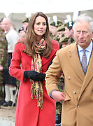 THE PRINCE OF WALES AND THE DUKE AND DUCHESS OF CAMBRIDGE OPENED THE TAMAR MANOUKIAN OUTDOOR CENTRE AT DUMFRIES HOUSE SCOTLAND.5.4.13.PIX STEVE BUTLER
