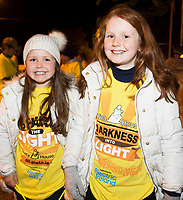 Fern and Rose Whyte during Darkness into Light in Kinvara Co. Galway . Photo:Andrew Downes, xposure