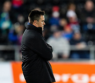 Head Coach Allen Clarke of Ospreys during the pre match warm up<br /> <br /> Photographer Simon King/Replay Images<br /> <br /> European Rugby Champions Cup Round 1 - Ospreys v Munster - Saturday 16th November 2019 - Liberty Stadium - Swansea<br /> <br /> World Copyright © Replay Images . All rights reserved. info@replayimages.co.uk - http://replayimages.co.uk