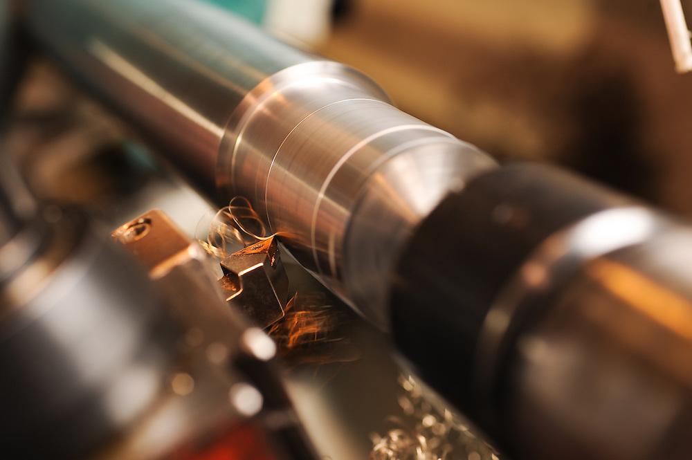 Machine shop detail photograph.