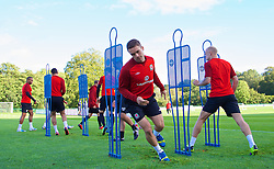 CARDIFF, WALES - Wednesday, October 9, 2013: Wales' Rhoys Wiggins during a training session at the Vale of Glamorgan ahead of the 2014 FIFA World Cup Brazil Qualifying Group A match against Macedonia. (Pic by David Rawcliffe/Propaganda)