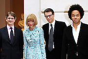 Thomas P Campbell, Anna Wintour, Andrew Bolton and Patrick Robinson pose at The Costume Institute's American Woman: Fashioning A National Identity Press Preview at the Metropolitan Museum of Art in New York City on May 3, 2010.