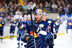 16.12.2016, Olympia Eishalle, Muenchen, GER, DEL, EHC Red Bull Muenchen vs ERC Ingolstadt, 28. Runde, im Bild Michael Wolf (EHC Red Bull Muenchen), Schlussjubel EHC Red Bull Muenchen, // during the German DEL Icehockey League 28th round match between EHC Red Bull Muenchen and ERC Ingolstadt at the Olympia Eishalle in Muenchen, Germany on 2016/12/16. EXPA Pictures © 2016, PhotoCredit: EXPA/ Eibner-Pressefoto/ Buthmann<br /> <br /> *****ATTENTION - OUT of GER*****