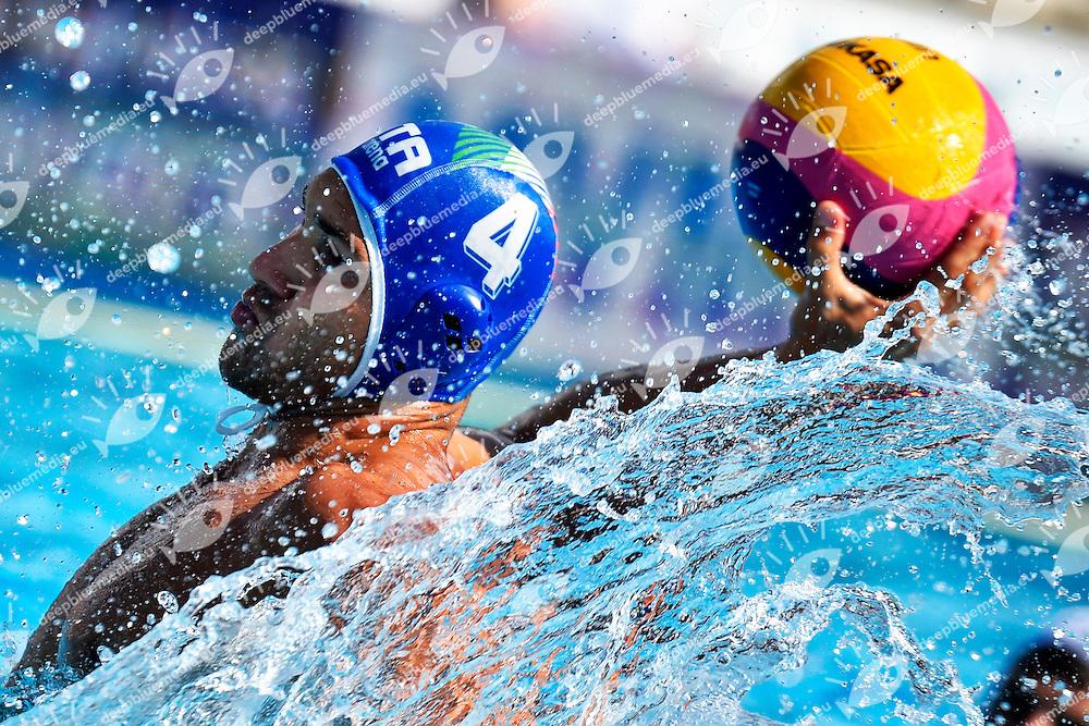 FIGLIOLI Pietro Italia <br /> Romania - Italy / Romania - Italia <br /> LEN European Water Polo Championships 2014<br /> Alfred Hajos -Tamas Szechy Swimming Complex<br /> Margitsziget - Margaret Island<br /> Day02 - July 15 <br /> Photo A.Staccioli/Insidefoto/Deepbluemedia