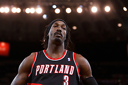 Feb 15, 2012; Oakland, CA, USA; Portland Trail Blazers small forward Gerald Wallace (3) on the sidelines during the first quarter against the Golden State Warriors at Oracle Arena. Mandatory Credit: Jason O. Watson-US PRESSWIRE