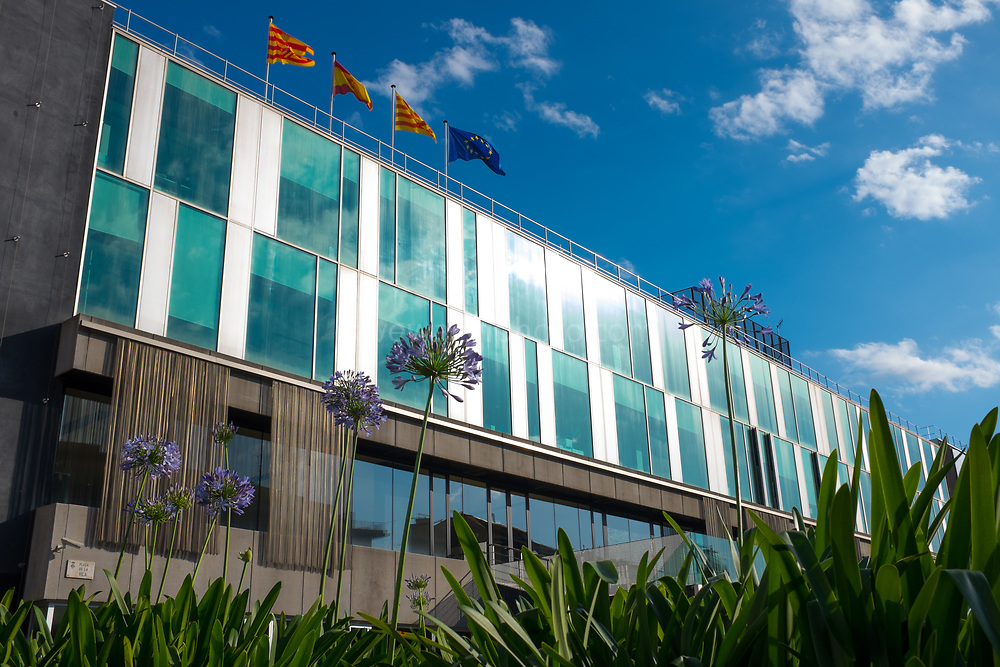 Ajuntament, city council building in Sant Cugat del Valles, Barcelona, Catalonia, Spain.