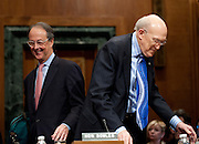 ERSKINE BOWLES, former White House chief of staff, and Former Senator ALAN SIMPSON (R-WY) co-chairmen of the National Commission on Fiscal Responsibility and Reform, testify before a Senate Budget Committee hearing on the report of the National Commission on Fiscal Responsibility and Reform.