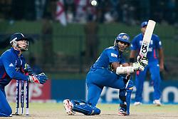 © Licensed to London News Pictures. 01/10/2012. Sri Lankan Jeevan Mendis batting during the T20 Cricket World super 8's match between England Vs Sri Lanka at the Pallekele International Stadium Cricket Stadium, Pallekele. Photo credit : Asanka Brendon Ratnayake/LNP