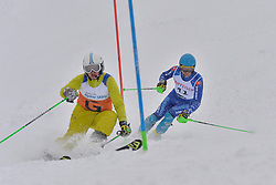 KRAKO Jakub Guide: BROZMAN Branislav, B2, SVK at 2018 World Para Alpine Skiing World Cup slalom, Veysonnaz, Switzerland