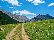 Old Mining Road in Colorado Collegiate Peaks