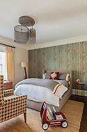 Westchester home, child's bedroom. Designed by 914 Interiors.