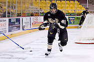 October 13, 2007 - Anchorage, Alaska: Tyler Ruel (91) of the Wayne State Warriors in the 1-4 loss to Robert Morris at the Nye Frontier Classic at the Sullivan Arena.