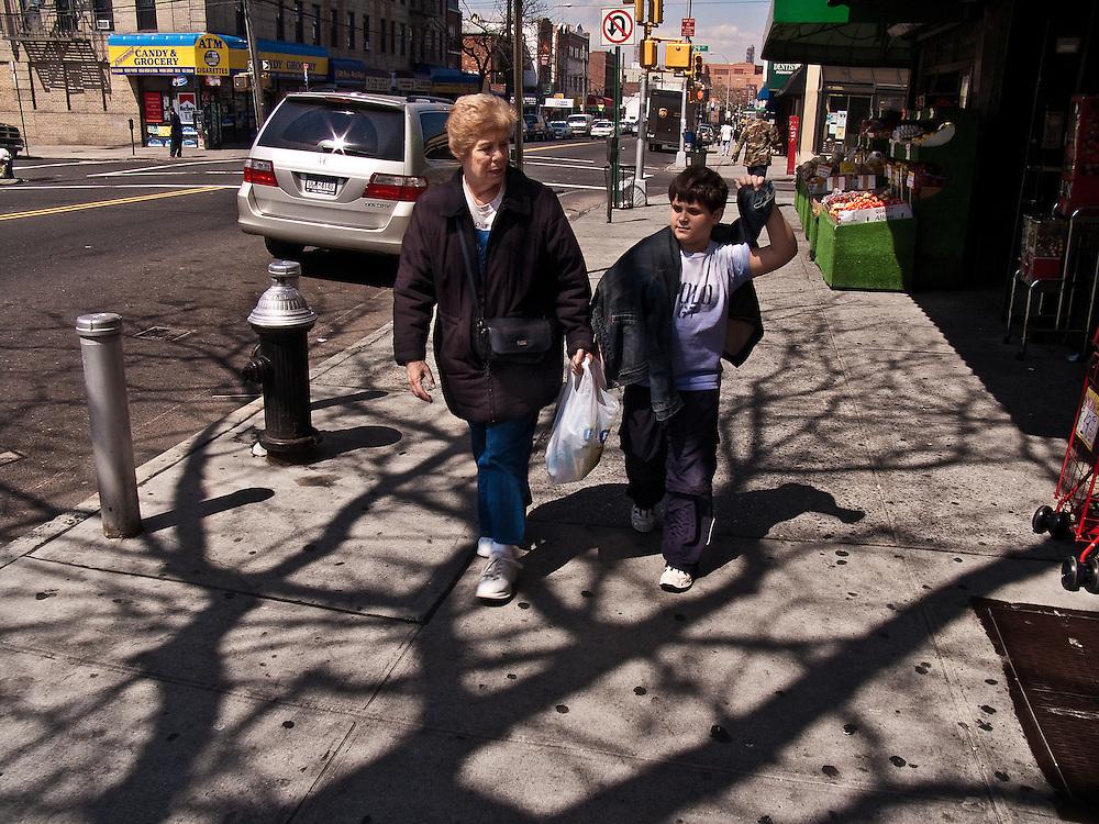Astoria Queens New York, Street Scene.