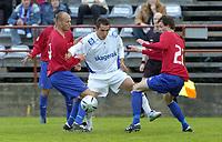 Ole Kristian Lindseth, Skeid. Olof Hviden-Watson, Pors. Jonny Hansen, Skeid. Fotball: 1. divisjon 2005: Skeid - Pors 0-1. 29. mai 2005. (Foto: Peter Tubaas/Digitalsport)