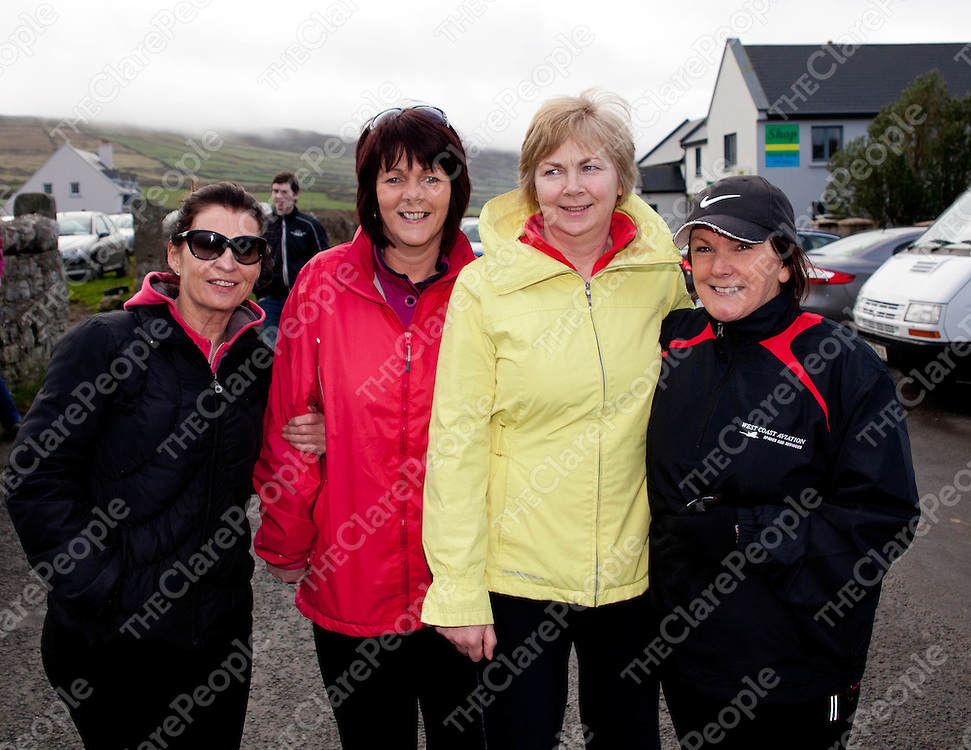 12.02.12.<br /> The Clare Branch of the Alzheimers Society of Ireland's annual fundraising 10 KM Burren Walk, Co. Clare. Enjoying the event were, Pauline Lucy, Breda Hansberry, Carmel McGovern and Ger O'Shaughnessy. Picture: Alan Place/Press 22.