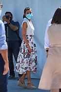 Queen Letizia of Spain visit La Carrichosa fruit cooperative on July 7, 2020 in Cieza, Spain
