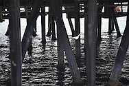 Photo Santa Monica beach wall art. Seagull flying under the Pier, ferris wheel, waves, ocean, clouds, waves. Los Angeles, Westside, Southern California ocean landscape photography. Matted print, limited edition. Fine art photography print.