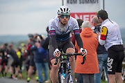 Jacob Scott of Swiftcarbon pro cycling as he takes the first KOM on cote de Goose Eye during stage four of the Tour de Yorkshire from Halifax to Leeds, , United Kingdom on 4 May 2019.