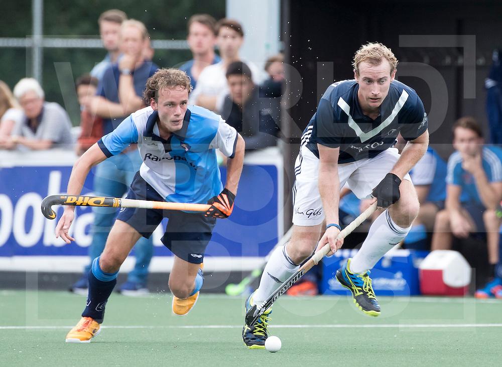 AMSTELVEEN - Hockey - Aran Zalewski (Pinoke) met / tijdens de hoofdklassewedstrijd heren HURLEY-PINOKE (1-1). COPYRIGHT KOEN SUYK.