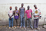 The Mbaraki base gang leaders in central Mombassa. They are the largest gang of street children in the city.