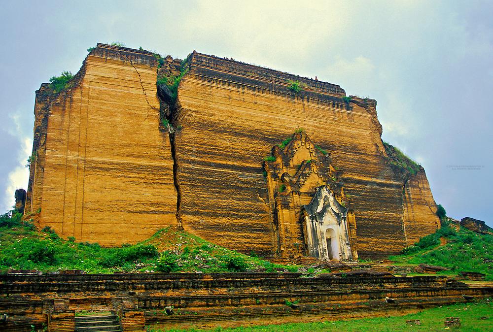 The Mingun Pagoda (on the Ayeyarwady River near Mandalay), Burma (Myanmar)