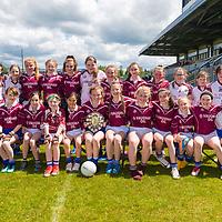 Lisdoonvarna Parish Schools winners of Division 3 in the Clare Primary Schools Ladies Football Finals at Cusack Park, Ennis, Co. Clare