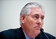 June 15, 2010 - Washington, District of Columbia, U.S., - Rex Tillerson, chairman and CEO of ExxonMobil (PICTURED); John Watson, chairman and CEO of Chevron Corporation; James Mulva, chairman and CEO of ConocoPhillips;  and Marvin Odum, president of Shell Oil Company; and Lamar McKay, president and chairman of BP America Inc.; testify before the House Energy and Commerce Committee on America's Energy Future on Tuesday.(Credit Image: © Pete Marovich/ZUMA Press)