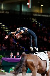 NÄF Ramona (SUI), Keep Cool III<br /> Leipzig - Partner Pferd 2018   <br /> FEI World Cup Vaulting Damen 1. Umlauf <br /> © www.sportfotos-lafrentz.de/Stefan Lafrentz