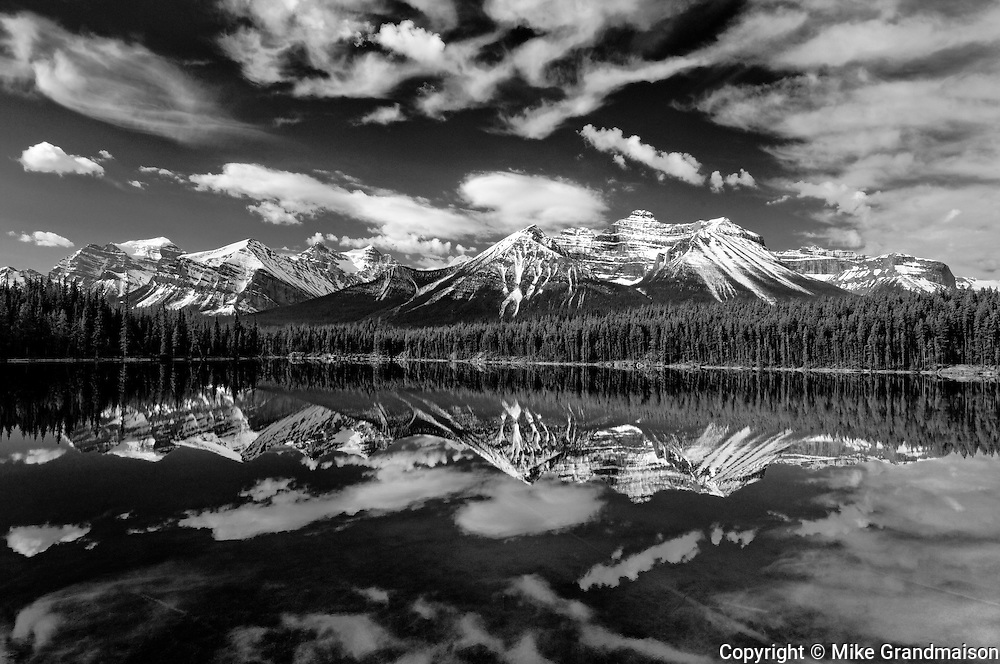 Herbert Lake reflection<br /> Banff National Park<br /> Alberta<br /> Canada