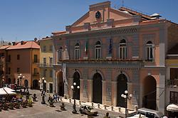 Potenza, Basilicata, Italy - The Stabile Theatre in M. Pagano's square