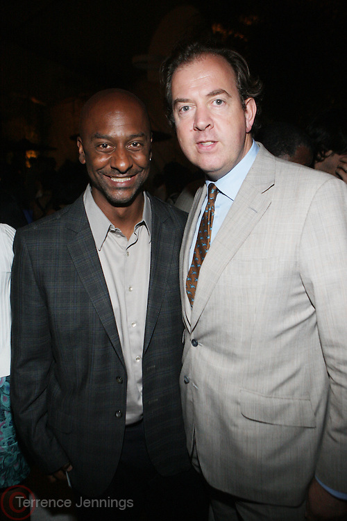 14 June 2010- Harlem, New York- l to r: Stephen Hill and Mark Cornell at The Apollo Theater's 2010 Spring Benefit and Awards Ceremony hosted by Jamie Foxx inducting Aretha Frankilin and Michael Jackson, and honoring Jennifer Lopez and Marc Anthony co- sponsored by Moet et Chandon which was held at the Apollo Theater on June 14, 2010 in Harlem, NYC. Photo Credit: Terrence Jennngs/Sipa