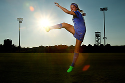 UK Women's Soccer midfielder Katy Keen poses for a portrait at Wendell Bell Soccer Complex in Lexington, Ky.