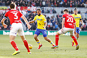 Leeds United midfielder Kemar Roofe (7) in action  during the EFL Sky Bet Championship match between Middlesbrough and Leeds United at the Riverside Stadium, Middlesbrough, England on 9 February 2019.