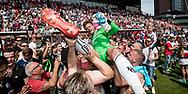 UTRECHT, FC Utrecht - AZ, voetbal, play-off Europees Voetbal, seizoen 2016-2017, 28-05-2017, Stadion de Galgenwaard, FC Utrecht wint de finale pay-off voor Europees voetbal, FC Utrecht keeper David Jensen